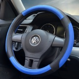 Retail Price 38Cm New High Quality Generic Microfiber Hand Stitched Car Steering Wheel Cover Breathable And Anti Slip Fit For 95 Cars Styling Black Blue Intl
