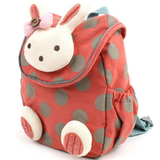 3D Animal Rabbit Anti-lost Baby Backpack Toddler Kids School Bag Orange