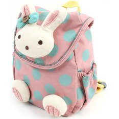 3D Animal Rabbit Anti-lost Baby Backpack Toddler Kids School Bag Pink