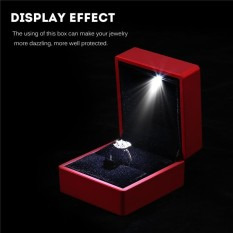 Cheapest 4 Colors Fashionable Led Lighted Ring Storage Box Jewelry Display Case Gift Intl Online