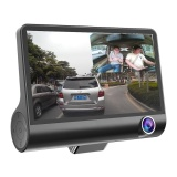 Price Comparisons Of 4 Hd 1080P Daul Lens Car Dvr Dash Cam G Sensor Video Recorder Rearview Camera Black Intl