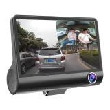 Compare 4 Hd 1080P Daul Lens Car Dvr Dash Cam G Sensor Video Recorder Rearview Camera Black Intl