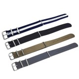 Buy 4 Pcs 4 Colors Fashion Colored Woven Nylon Fabric Replacement Wristwatch Band Strap Bracelet Belt With Stainless Steel Buckle Clasp20Mm Width Intl Online