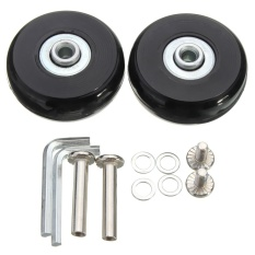 4 Sets Luggage Suitcase Replacement Wheels Repair Od 50Mm Axles Deluxe Repair Intl Shopping