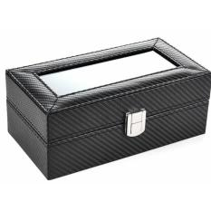 Price 4 Slot Carbon Fiber Watch Storage Box Full Black Oem Original