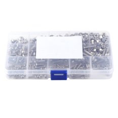 How To Buy 440Pcs M3 M4 M5 Stainless Steel Ss304 Hex Socket Button Head Bolts Screws And Nuts Assortment Intl