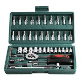 Sale 46Pcs Spanner Socket Set 1 4 Repair Tool Intl Oem Cheap