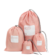 4in1 Travel Luggage Storage Organizer Packing Bags Drawstring Pouch Waterproof Pink By Miss Lan.