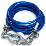 4M 6Tons Car Tow Cable Emergency Trailer Rope Strap With 2 Anti Slip Hooks For Heavy Duty Car Security Rope Steel Cars Towing Chain China