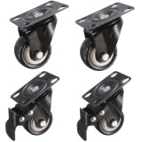 Discounted 4X New 50Mm Heavy Duty Pu Swivel Castor Wheels Trolley Furniture Caster Rubber Intl
