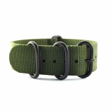 Price 5 Ring Army Green Military Nylon Zulu Strap Black 22Mm Oem Online