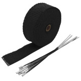Price 5Cm X 10M Black Fiberglass Motorcycle Exhaust Heat Insulating Wrap Roll Header Heat Shield Tape With 6 Stainless Ties Intl On Hong Kong Sar China