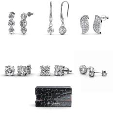 Review 6 Days Elegant Travel Earrings Set Crystals From Swarovski® Singapore
