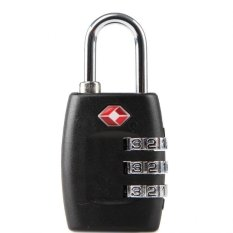 Best Offer 6 Pcs 3 Digit Resettable Combination Tsa Travel Luggage Suitcase Lock Padlock Color Black