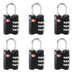 Discount 6 Pcs New Arrive 3 Dial Tsa Approved Security Lock For Travel Luggage Suitcase Bag Black China