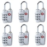 Buy 6 Pcs New Arrive 3 Dial Tsa Approved Security Lock For Travel Luggage Suitcase Bag Silver Oem Online