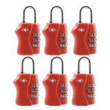 Buy 6 Pcs Travel Tsa Lock 3 Digit Combination Luggage Suitcase Lock Padlock Red Oem Cheap