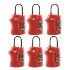 Price Comparisons Of 6 Pcs Travel Tsa Lock 3 Digit Combination Luggage Suitcase Lock Padlock Red