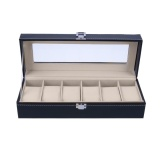 Sale 6 Slots Wrist Watch Display Case Box Jewelry Storage Organizer With Cover Intl On China