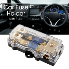 Price Comparisons 60A Car Audio 3 Ways Fuse Holder For 12V 24V Car Boat Vehicles Amplifier Ma661