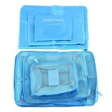 Best Rated 6Pcs Clothes Storage Bags Cube Travel Clothing Luggage Organizer Pouch 7Color