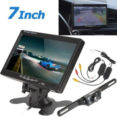 7 Inch TFT LCD 2-CH Car Headrest Monitor + 420TVL 135 Degrees CMOS Night