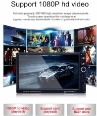 7 2 Din 1080P Car Bluetooth Mp5 Player Rearview Monitor Stereo Fm Radio Intl On Line