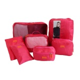 7Pcs Set Multi Function Travel Storage Bag Sets Large Capacity Luggage Bag Clothes Shoes Organizer Hotpink Intl China