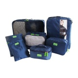 7Pcs Set Multi Function Travel Storage Bag Sets Large Capacity Luggage Bag Clothes Shoes Organizer Navy Blue Intl Review