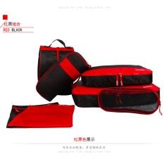 Sale 7Pcs Travel Organizer Storage Bag Sets Packing Cubes Red Black Intl Oem Cheap