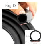 Sale 8 Meter Big D Type Car Rubber Seal With Double Sided Adhesive Sound Insulation Car Door Sealing Strip Weatherstrip Edge Trim Noise Insulation Intl Oem