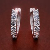 Best Reviews Of 925 Sterling Silver Rhinestones Hoop Diamond Stud Earrings