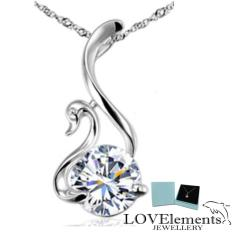 Buying Stunning Sliver Jewellery Vintage Swan Beautiful Silver Swan Flawless Cz Diamond Pendant Necklace 17 7 Fashion By Lovelements™ Jewellery Prefect Gifts