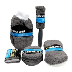9pcs Car Wash Cleaning Kit Auto Care Car Detailing Include 3* Microfiber Towels, 3* Applicator Pads, Wash Sponge, Wash Glove, Wheel Brush Microfiber - Intl By Youshizhi.