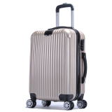 Get Cheap Abs Pc Glossy Protector With Hanger Luggage 20 Inches Champagne