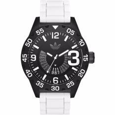 Adidas Adh3136 Newburgh Chronograph Black Dial White Silicone Watch Adh3136 Shopping