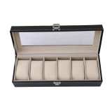 Compare Ai Home 6Grid Watch Gift Box Display Case Jewelry Collection Pu Storage Organizer Black Intl