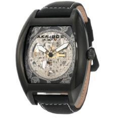 Best Offer Akribos Xxiv Men S Akr454Wt Premier Skelton Automatic Tourneau Shaped Watch Intl