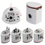 Buy All In One Universal International World Travel Ac Power Charger Adapter With Au Us Uk Eu Plug And 2 Usb Port Adaptor White Export Oem Cheap