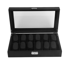 How To Get Allwin High Grade 12 Slot Carbon Fiber Design Display Watch Box Holder Black Large