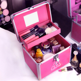 Price Aluminium Alloy Portable Multi Functional Makeup Bag Double Layer Makeup Box 3Ce China