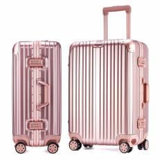 28 Inch Luggage Aluminum Magnesium Alloy Framed(frame Only) Scratch Resistant Dual 4 Wheel Spinner Hard Case Trolley Luggage Matte Rivet Reinforced Roller Suitcases By Ryan&rayla.