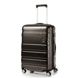 Review American Tourister Hs Mv Deluxe Spinner 69Cm Exp Matte Black Checks American Tourister On Singapore