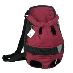 3b8358258f Anself Breathable Cute Canvas Pet Bag Puppy Dog Cat Carrier Head out Front  Chest Backpack for