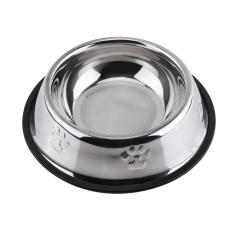 Anti Slip Botom Dog Pet Cat Food Water Bowl Feeding Dish(21.5cm) - Intl By Globedealwin.