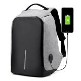 Buy Anti Theft Backpack Usb Charging Laptop Backpacks For Teenagers Male Mochila Travel Backpack Bag Back Pack Bag Gray Intl Oem