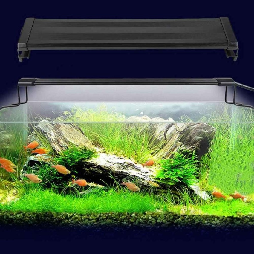 Promotion Aquarium Light Fish Tank Decoration Lamp Over Hood/Glass Stretchable Bracket – intl