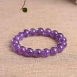 Latest Authentic Amethyst 8Mm Beads Bracelets Natural Stone Gemstone Fashion Crystal Jewelry Accessory Party Gifts Beauty New Intl