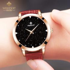 Discount Authentic Watch Lady Fashion Trend Student Waterproof Belt Quartz Watch Simple Leisure Star Watch Intl