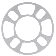 Auto Aluminum Alloy Wheel Spacer Gasket 4 Hole 8mm Wheels Tires Auto Parts (silver White) - Intl By Crystalawaking.